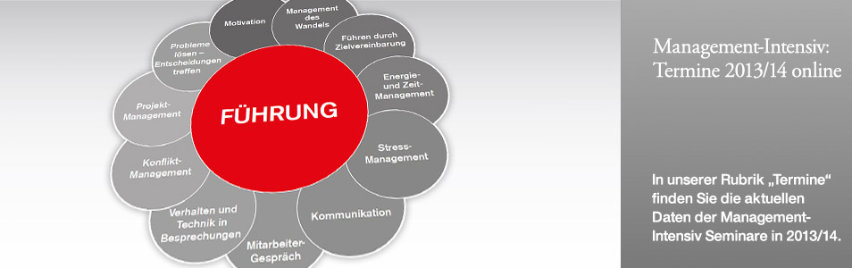 Management-Intensiv und Projektmanagement-Intensiv: Termine online