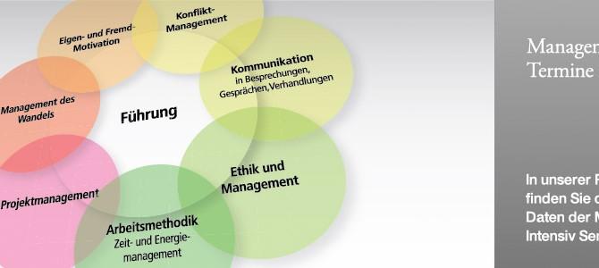 Management-Intensiv und Projektmanagement-Intensiv: Termine online